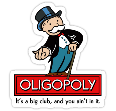Fighting the Oligopoly with Blockchain
