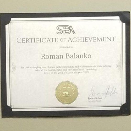PaymentWorld CEO – Roman Balanko receives SBA award
