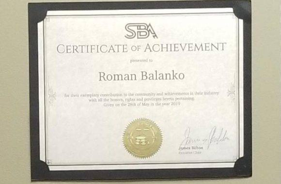 PaymentWorld CEO – Roman Balanko receives SBA award